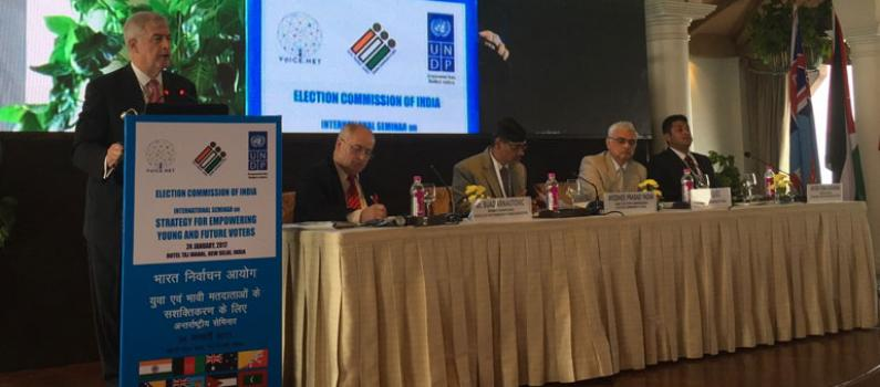 IFES CEO Presents Youth Engagement Strategies at Indian Election Commission Conference Featured Image